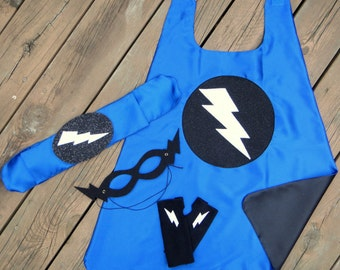 Fast Delivery - Boys SUPER HERO COSTUME Set - Childrens Super Hero Cape + Accessory Set Choose from 10 sets