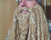 Soft, Curly Crocheted Full length Beard and Mustache