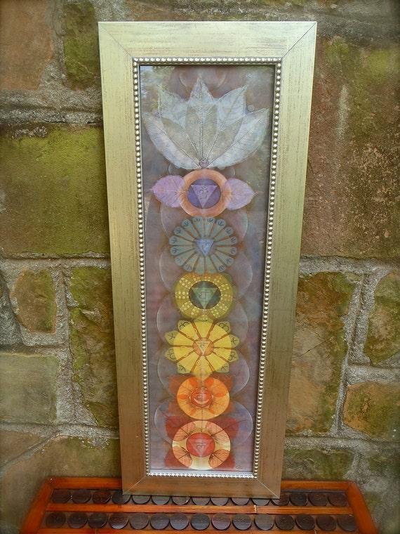 CHAKRAS painting yoga art reiki energy YOGA PAINTING spiritual painting framed painting prana
