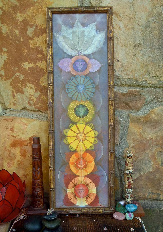 Reserved For Pamela Chakras Painting Yoga Art Reiki Energy