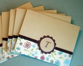 Spring Floral Personalized Notecards (Set of 6)