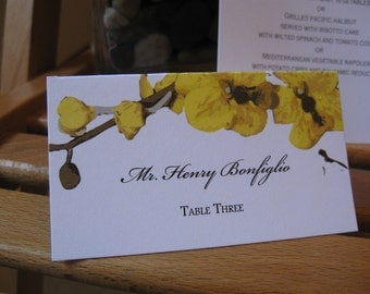 Custom Simple Orchid - escort or place cards, custom printed, set of 20