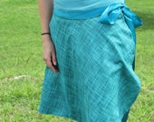 Bright Green Wrap Skirt, Summer Time Fairytale