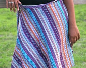 Wild and Fun Colorful Long Wrap Skirt