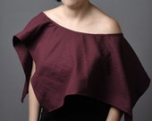 Classy and Sexy Maroon Poncho