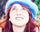 Women's Cute Blue Bird Beret Casual Fun Summer hat
