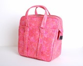 Vintage 60s MOD Pink Samsonite Luggage Tote Bag