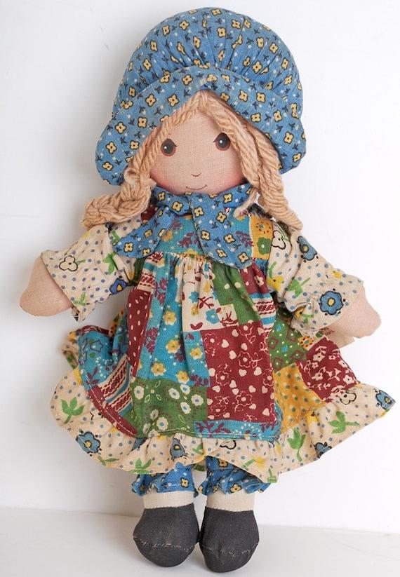 Holly Hobbie Plush Rag Doll 9 Inch