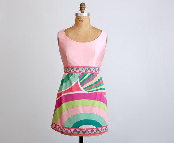 Vintage 70s Emilio Pucci Braniff Stewardess Mini Dress