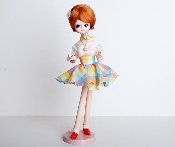 Vintage 60s MOD Redhead Japanese Pose Doll RARE Large Size