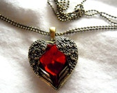 My Angel Heart Pendant - With Wings - FAST SHIPPING