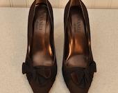 Vintage Shoes Vaneli de notte Brown Satiny  Shoes