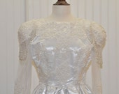 Vintage  Peplum Style Wedding Dress