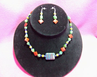 Mixed Stone and Rainbow Calcite Necklace   Item 07-64