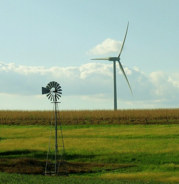 """Windmills  """"Old and New""""    P-13"""