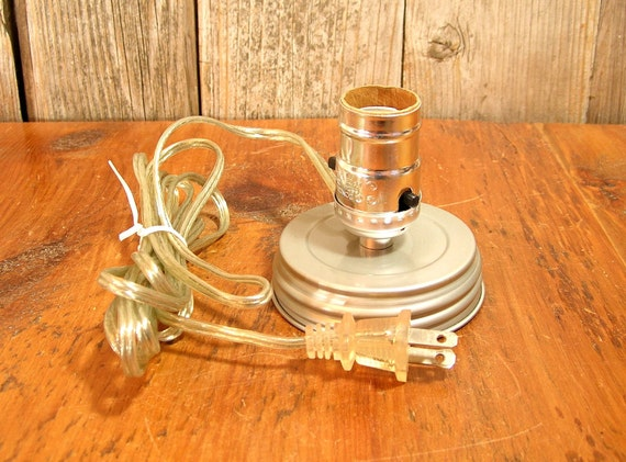 Lamp Adapter Kit For Wide Mouth Mason Jar By Vintagehardware