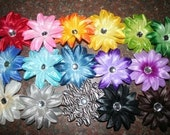 4 inch Lilly flower with gem on a alligator clip