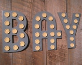 Wooden Marquee Movie Letter - All Letters Available Birthday Wedding Gift