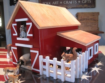 Kids Toy Wooden Barn
