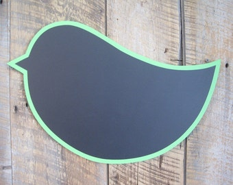 Chalkboard Bird - Wall Art Wooden Restaurant or Kitchen Sign
