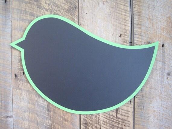 Chalkboard Bird - Wall Art Wooden Restaurant or Kitchen Sign