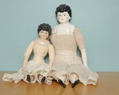 Two Antique German Style China Dolls