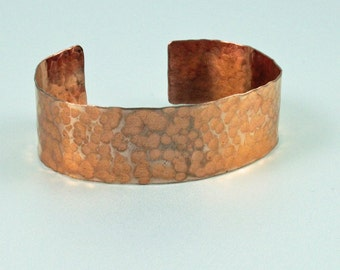 Handcrafted Copper Cuff - Hammered