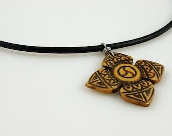 SALE - Mens Necklace - Bone Cross