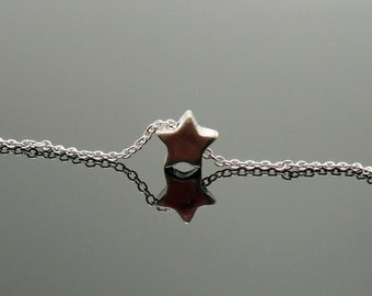 Dainty Shooting Star Necklace  - Sterling Silver