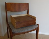 Todler Booster Seat hand built from walnut, birch, and rosewood