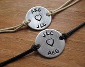 Personalized Couples Bracelets - Couples Bracelets - His and Her bracelet - Boyfriend Gift - Girlfriend Gift - Gift for Couple - Couples Set