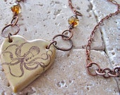 Entangled Heart - Heart Pendant Necklace - Handmade Artisan Jewelry