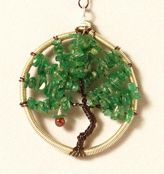 Eden's Tree of Knowledge - Cubicle Decor /   Desk Ornament / Tree Ornament / Suncatcher / Car Charm