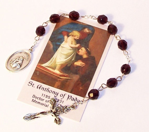 chaplet of st anthony of padua patron saint of lost items. Black Bedroom Furniture Sets. Home Design Ideas