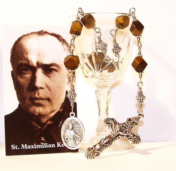 "Unbreakable ""Niner"" Chaplet of St. Maximillian Kolbe - Patron Saint of Families, Prisoners and Against Drug Addiction"