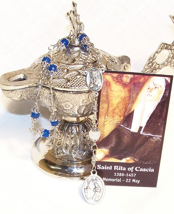 Unbreakable Traditional Chaplet of St. Rita of Cascia - Patron Saint of Impossible Causes, Abuse Victims and Difficult Marriages