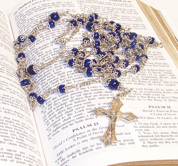 Unbreakable First Holy Communion Rosary (Connector can be switched for another style.)