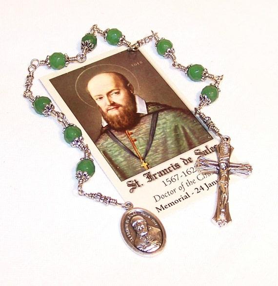 Unbreakable Chaplet of St. Francis de Sales - Patron Saint of Deaf People, Teachers and Writers