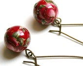 Mia Earrings - Red