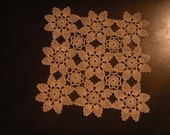 knitted lace doily - brown