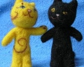 Cute Cats. Needle felted. Year 2011 symbol