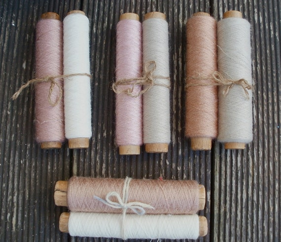 Vintage wool bobbins Rustic Primitive Styling for photos and home