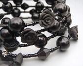 Black Rose Bracelet