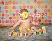 Lemon Yellow Cabbage Rose Clip plus Headband