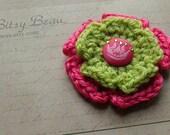 Princess Crochet Flower Clip