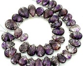 LAST Strand,New Arrival ,Truly Rare 20 Pcs of High Quality Moss Amethyst Smooth Pear Briolettes, 10-11mm Long,Amazing Stone