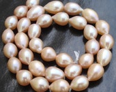Natural PINK PEARL Smooth Drops Briolettes Full Drill,Very Nice Quality, Fresh Water Pearls,.