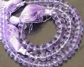 7mm, AAA Finest Quality Lavendar PINK AMETHYST Micro Faceted Roundells,Full 8 Inch Long Strand,