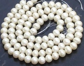 2 Strands,10mm Round, 1/2 Strand,Truly Rare natural Fresh Water Pearl Smooth Round Balls Beads,Finest Quality at Low price