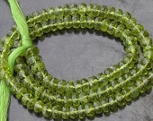 14 Inch Strand,SUPER-FINEST-AAA--Huge Rare 5.5mm, Gorgeous Quality Peridot Micro Faceted Rondells,.Very Nice Quality